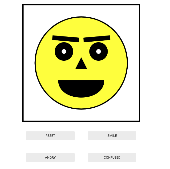 JavaScript animated face assigment